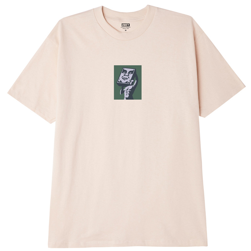 Obey At Last T-Shirt Cream