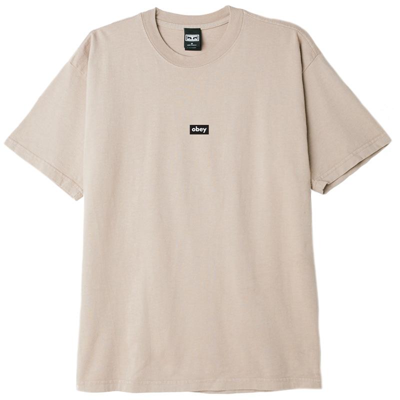 Obey Black Bar T-Shirt Humus
