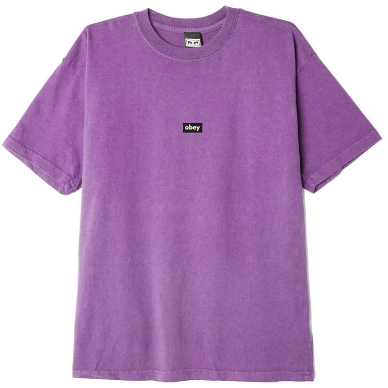 Obey Black Bar T-Shirt Orchid