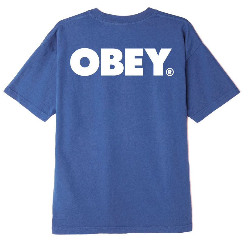 Obey Bold T-Shirt Purple Mountain