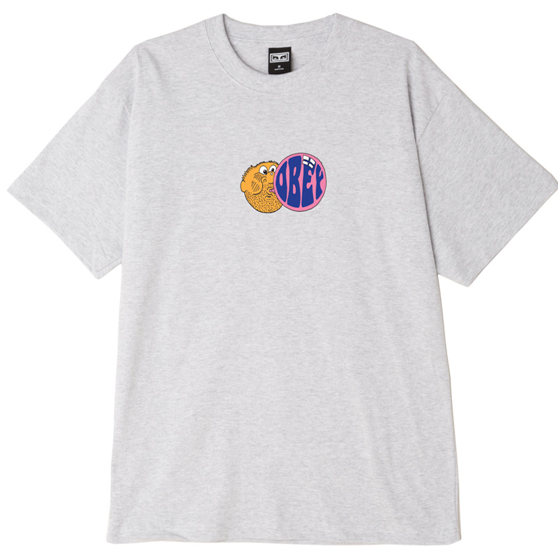 Obey Bubble T-Shirt Heather Grey
