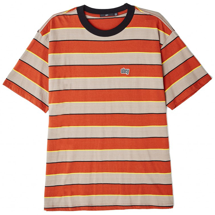 Obey Burn Classic T-Shirt Picante Multi