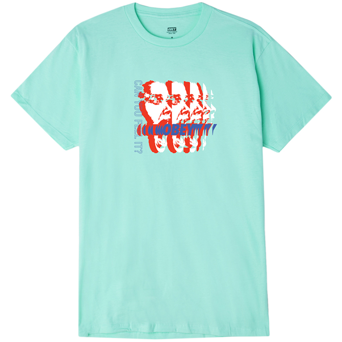 Obey Can You Feel It T-shirt Celadon