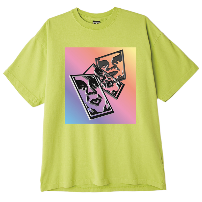 Obey Chaos & Entropy T-Shirt Bright Lime