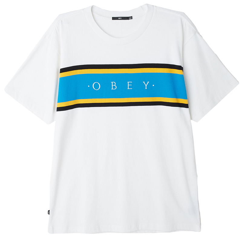 Obey Charm Classic T-Shirt White Multi