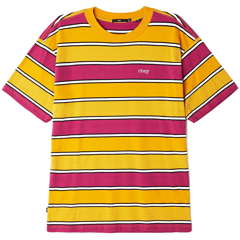 Obey Clover Box T-shirt Orange Multi