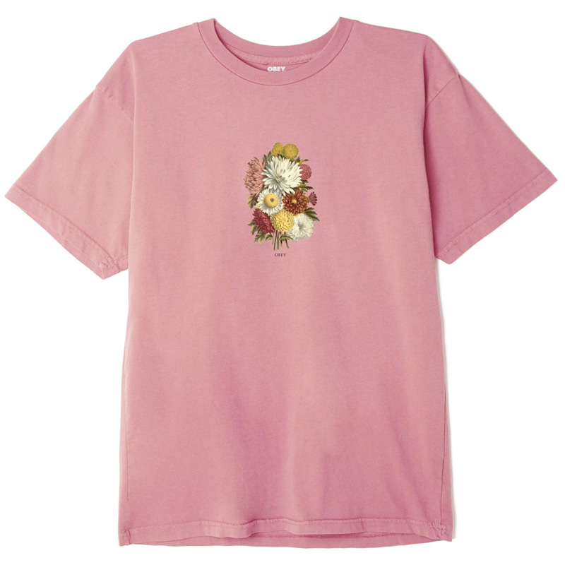 Obey Earth Propagandist T-Shirt Pink