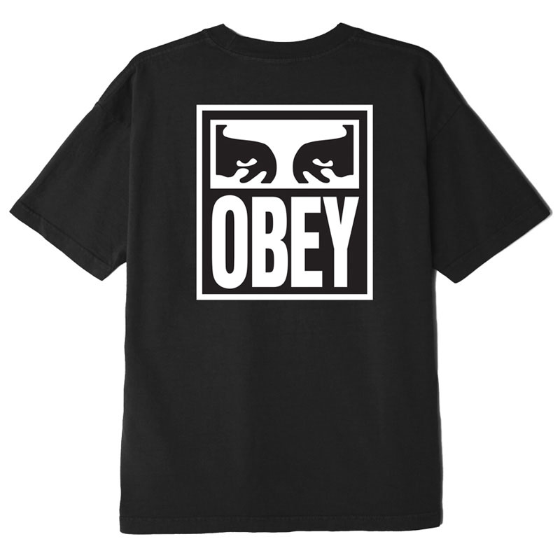 Obey Eyes Icon 2 T-Shirt Off Black