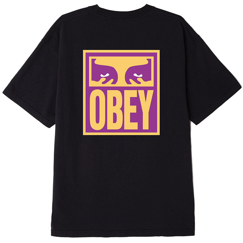 Obey Eyes Icon T-Shirt Off Black