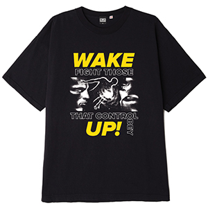 Obey Fight Those TCap Control T-shirt Off Black