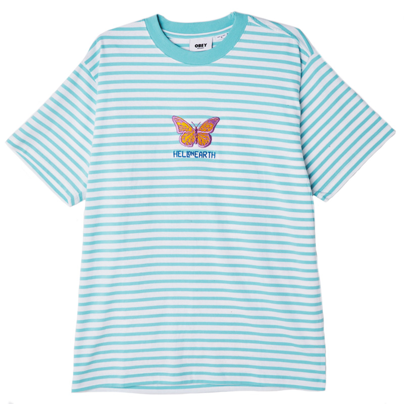 Obey Fisher T-Shirt Tranquilty Blue Multi