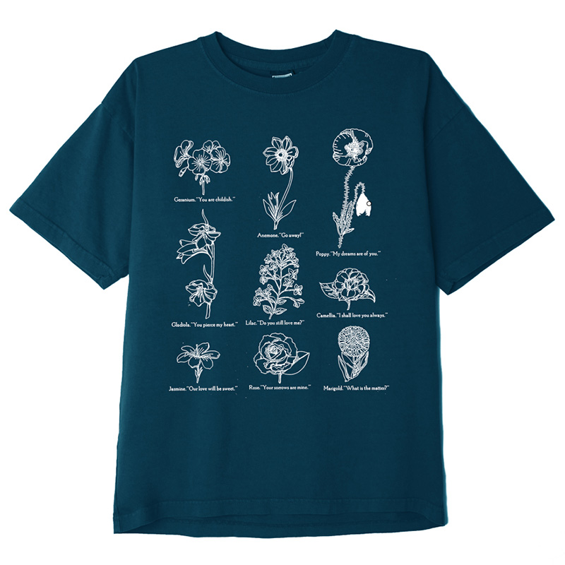 Obey Flower Packet T-Shirt French Navy