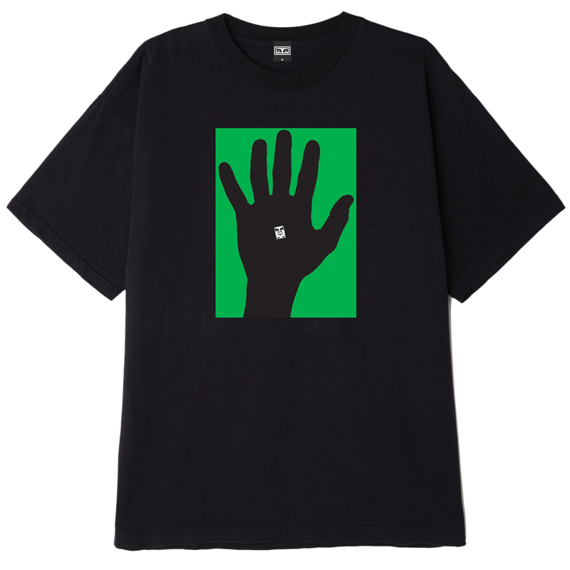 Obey Hand Of Obey Off T-Shirt Black