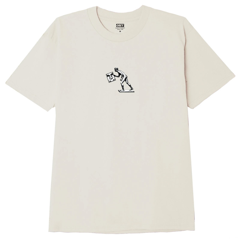 Obey Icon Run T-Shirt Cream