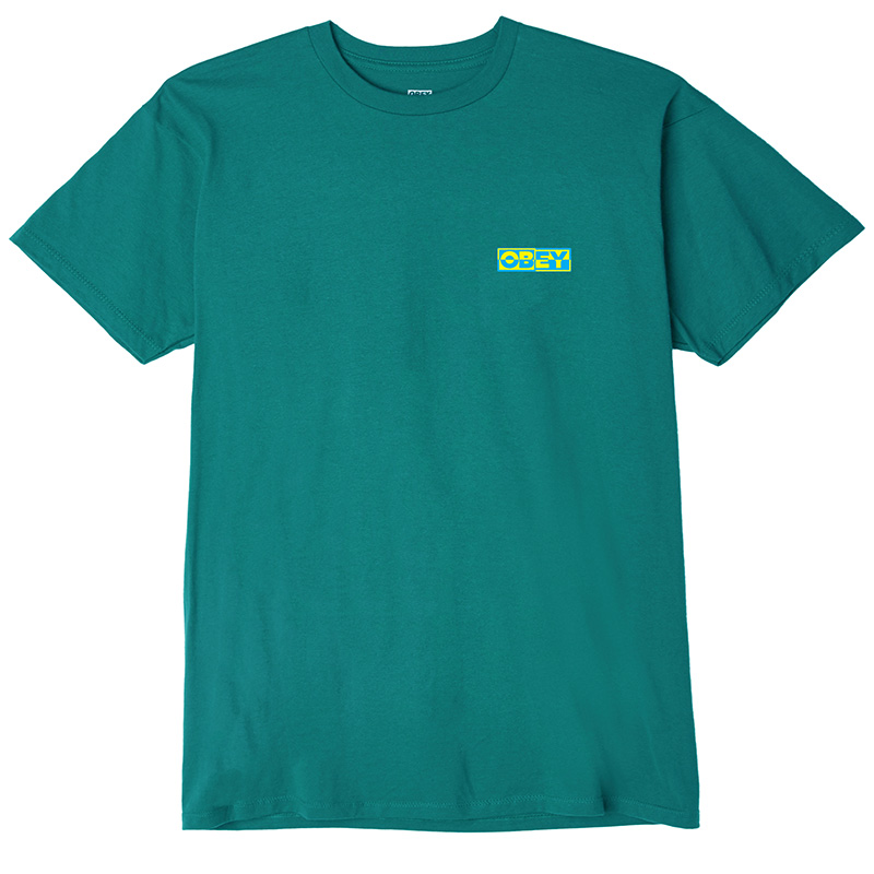 Obey Inside Out T-Shirt Teal