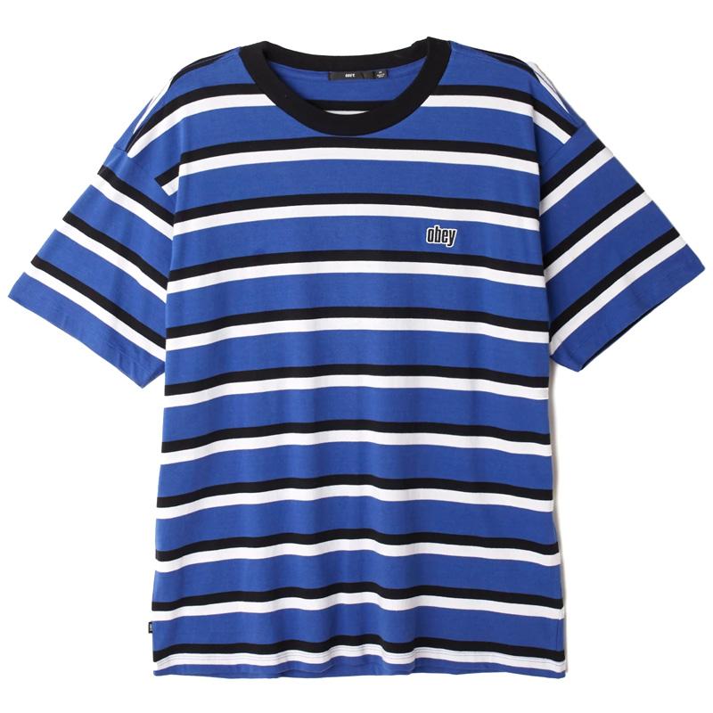 Obey Jeff Classic T-Shirt Blue Multi