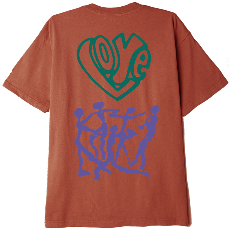 Obey Love Over Hate T-Shirt Ginger