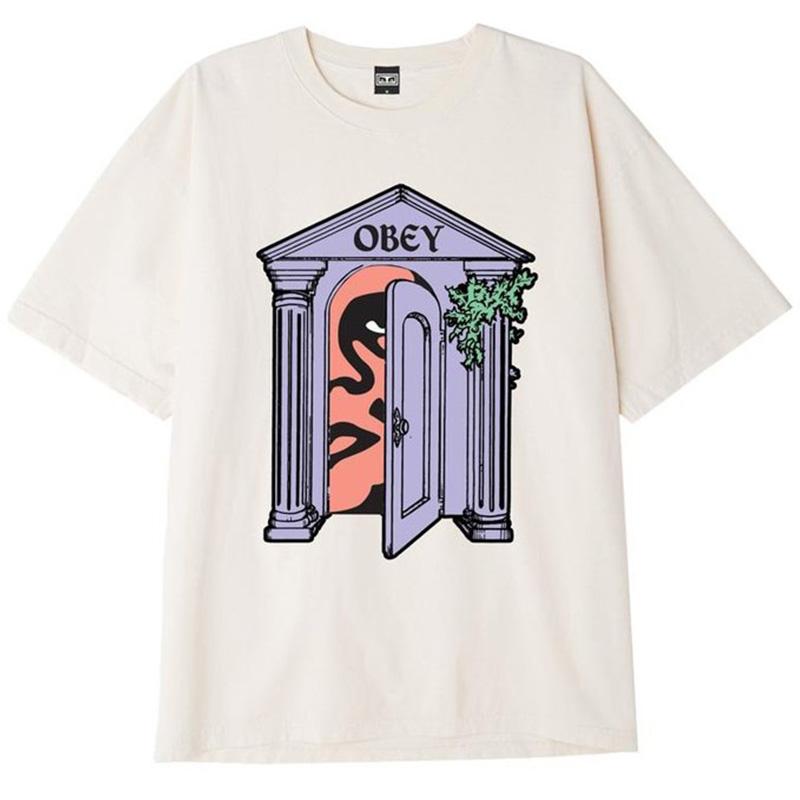 Obey Mausoleum T-Shirt Cream