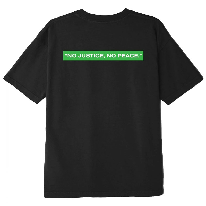 Obey No Justice, No Peace T-Shirt Off Black
