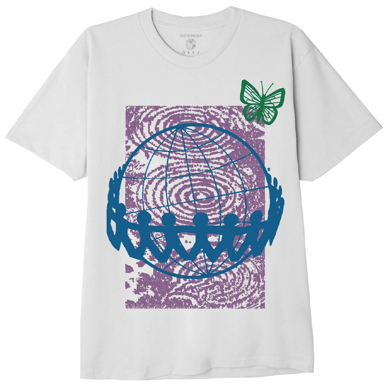 Obey No Sides On A Round Planet 2 T-Shirt White