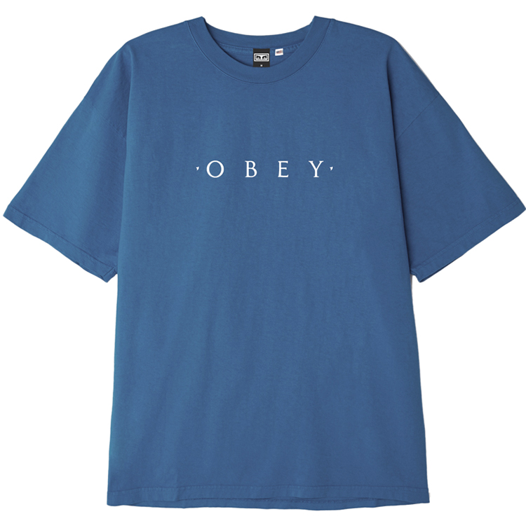 Obey Novel OBEY T-shirt Blue Moon