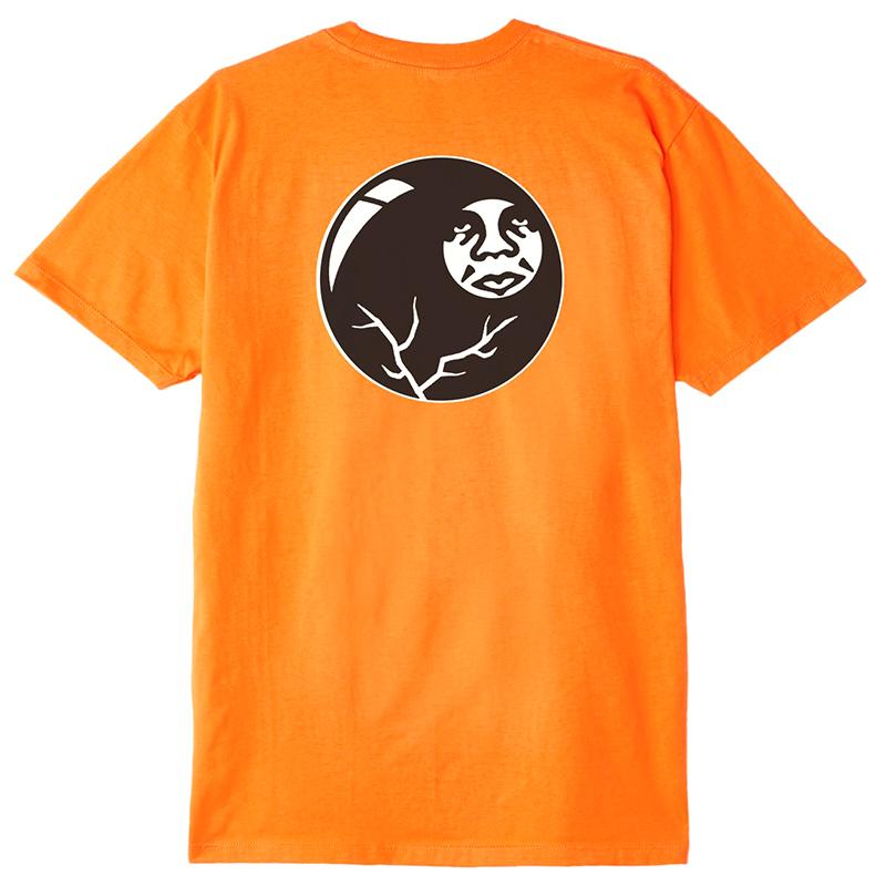 Obey 8 Ball Icon T-shirt Orange