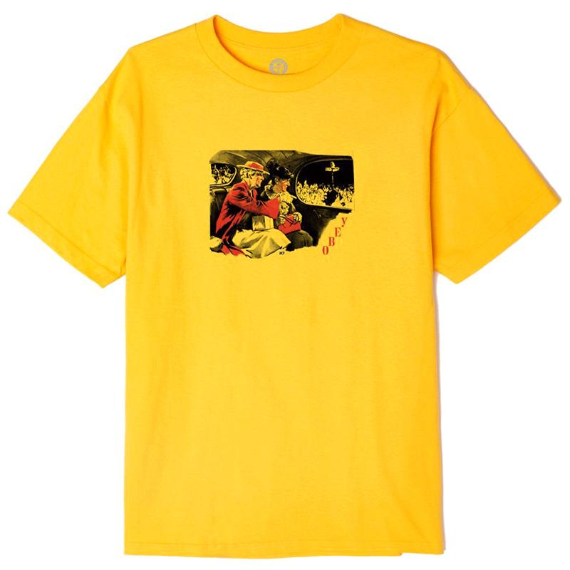 Obey Outside Agitators T-shirt Gold