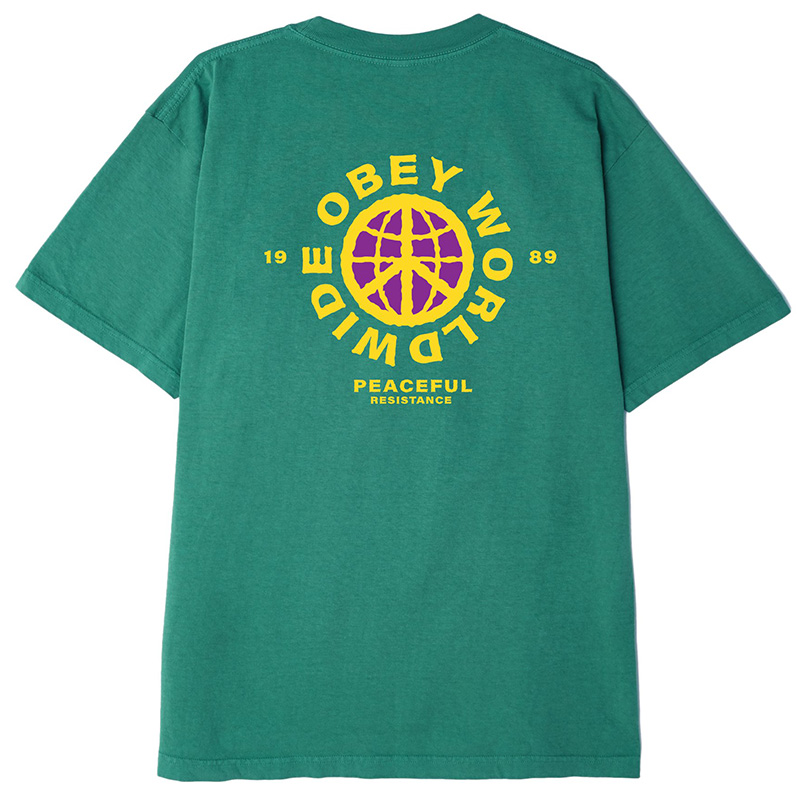 Obey Peaceful Resistance T-Shirt Emerald