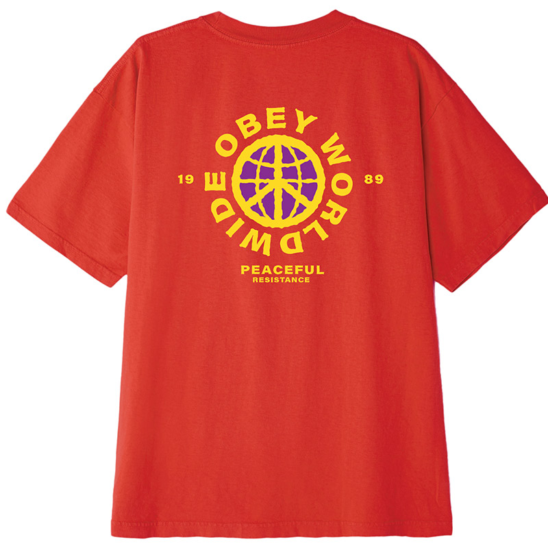 Obey Peaceful Resistance T-Shirt Tomato