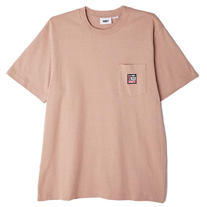 Obey Point Organic Pocket T-Shirt Gallnut
