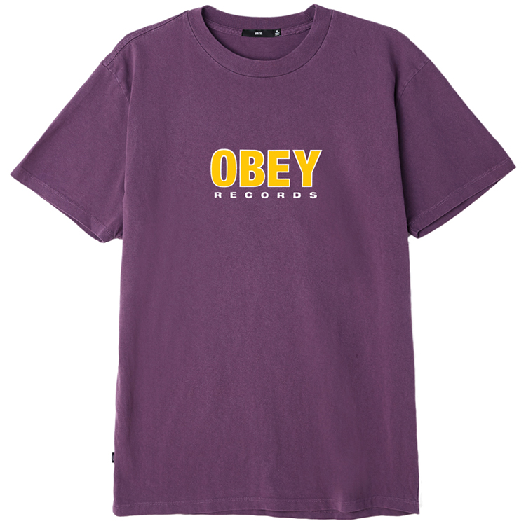 Obey Records 2 T-shirt Dusty Grape