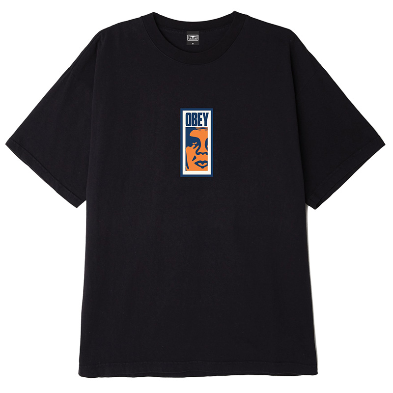 Obey Slim Icon T-Shirt Off Black