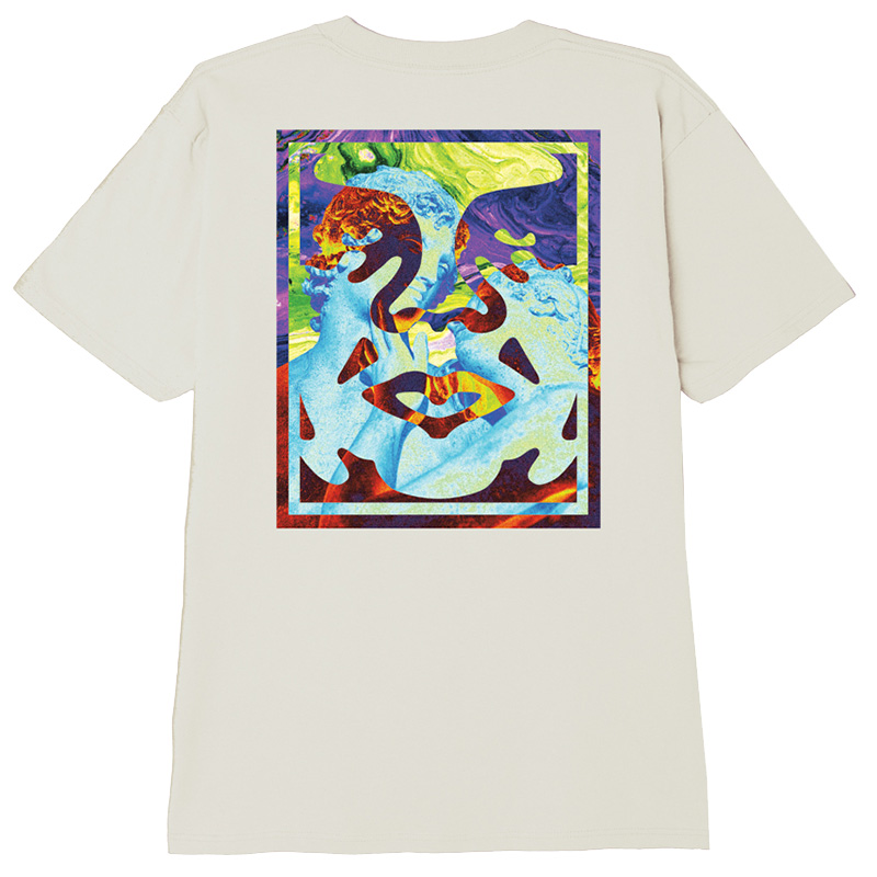 Obey Statue Icon T-Shirt Cream