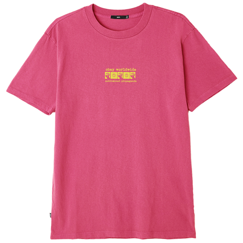 Obey Subliminal Propaganda T-shirt Dusty Magenta