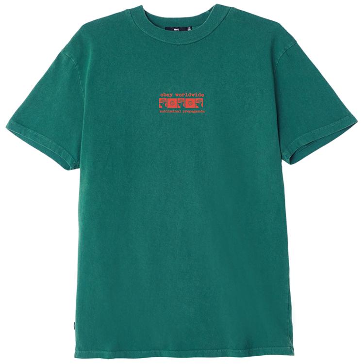 Obey Subliminal Propaganda T-shirt Dusty teal