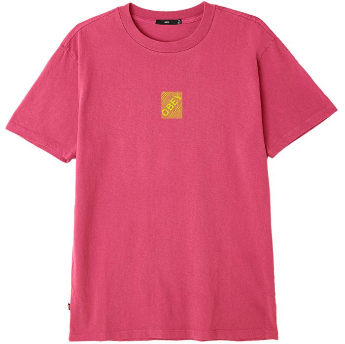 Obey Swirl T-shirt Dusty Magenta