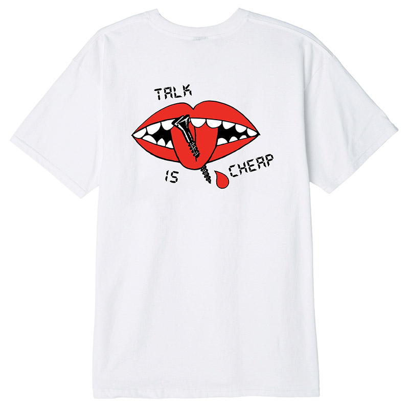 Obey Talk Is Cheap T-Shirt White