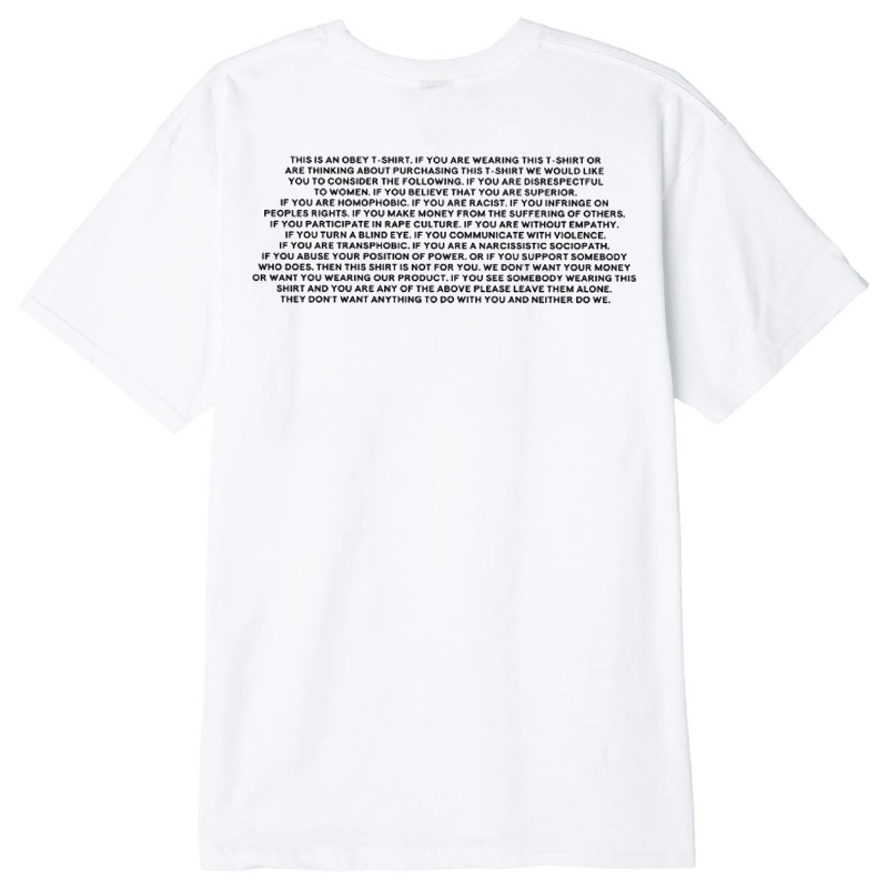 Obey This is an obey T-Shirt White