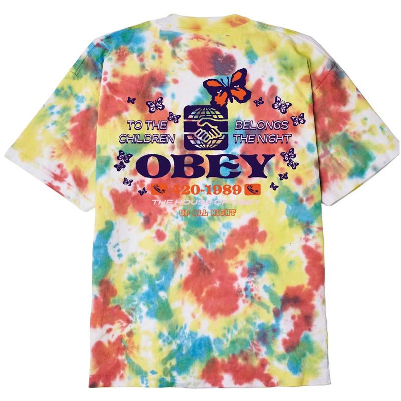 Obey To The Children T-Shirt Rainbow Blotch