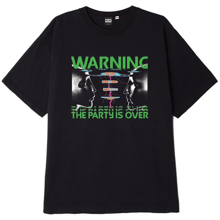 Obey Warning T-shirt Off Black