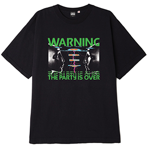 Obey Warning T-shirt Off Black