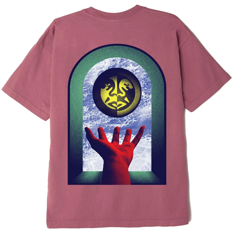Obey Window Watcher T-Shirt Mesa Rose