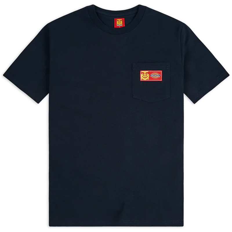 Obey X Dickies Heavyweight Pocket T-Shirt Dark Navy