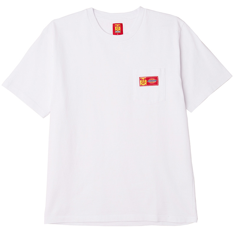 Obey X Dickies Heavyweight Pocket T-Shirt White