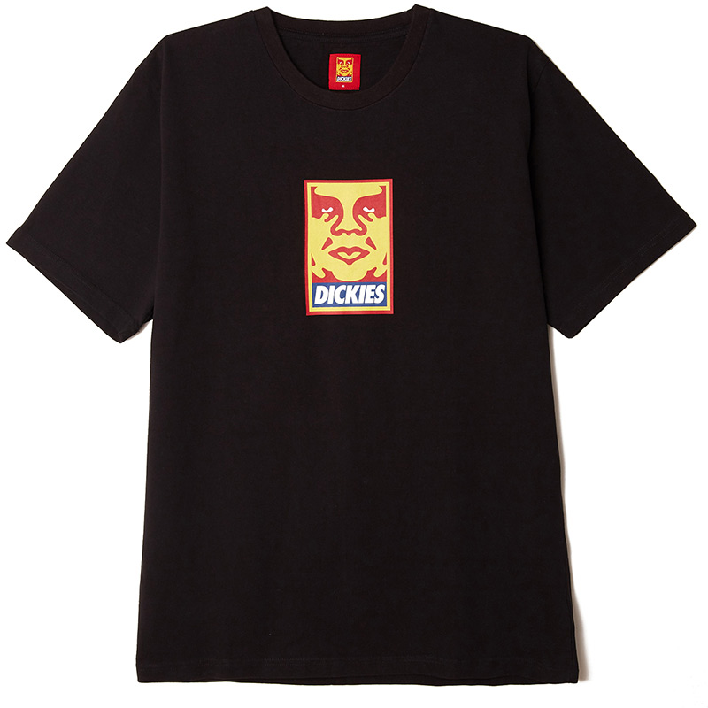 Obey X Dickies Heavyweight T-Shirt Black