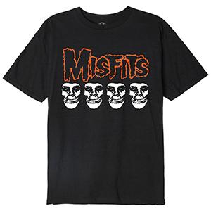 Obey X Misfits Fiend Skulls T-Shirt Black