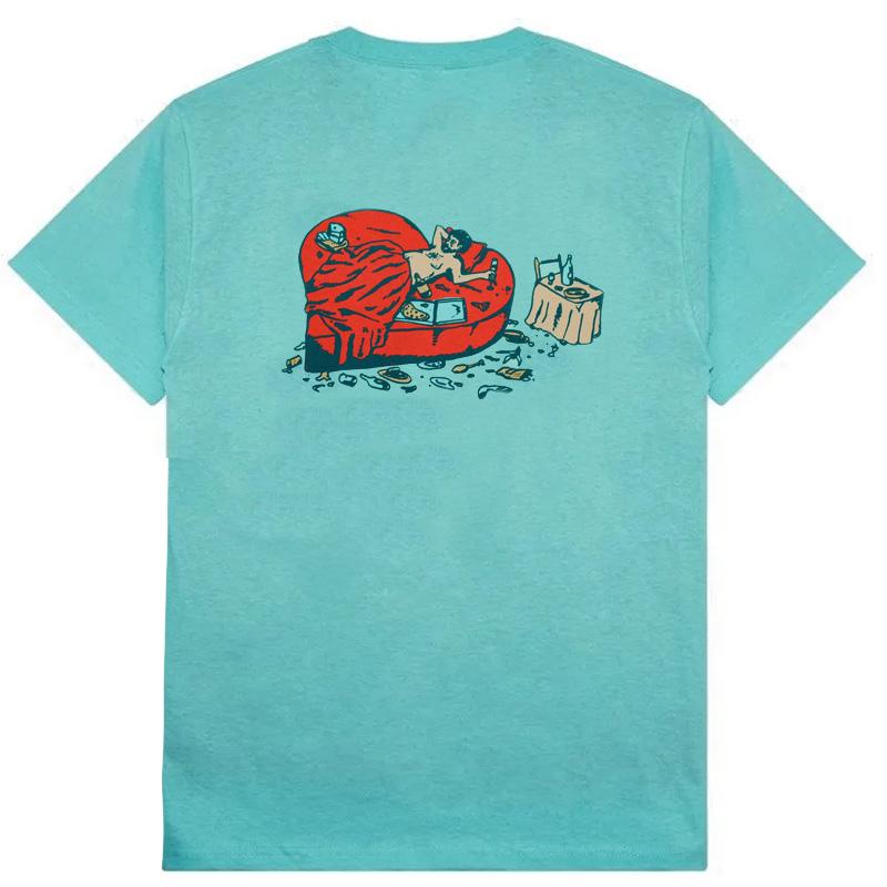 Pass-Port Unlucky In Love T-shirt Celadon
