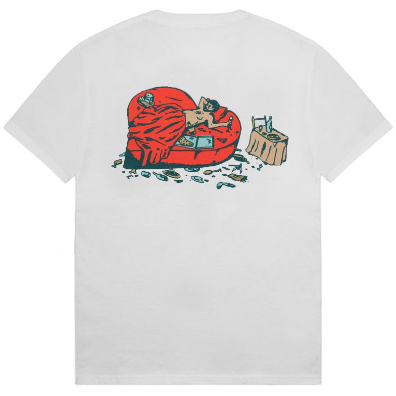 Pass-Port Unlucky In Love T-shirt White