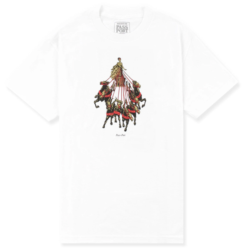 Passport State Horses T-Shirt White