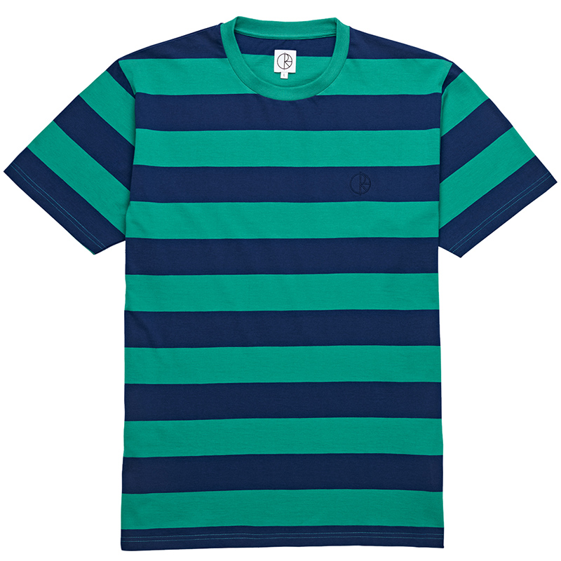 Polar 91' Stripe T-Shirt Green/Navy